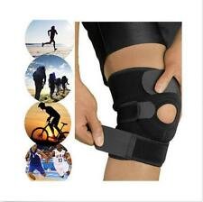 Adjustable Strap Elastic Patella Sports Support Brace Black Neoprene Knee