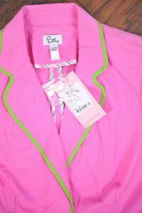 NWT Lilly Pulitzer Janice Jacket Blazer Hibiscus Pink Women's 14