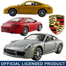 1:35 Porsche Carrera S 911 DieCast Model Car Kid Pull Back Vehicle Toy Die Cast