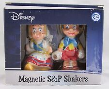 Disney Pinocchio & Doll Magnetic Salt & Pepper Shakers, Westland, New in Box