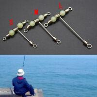 Pesca de 3vías de balanceo giratorio T-ShapeCruz-línea mini con perlas lumino*ws
