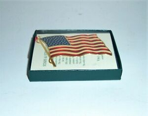 USA VTG NIB VIRGINIA METALCRAFTERS BRASS STARS & STRIPES ORNAMENT - FLAG