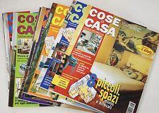 COSE DI CASA RIVISTA MENSILE DI ARREDAMENTO ANNO 1996 LOTTO DI 7 NUMERI annata