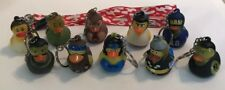 Lot of 10 Rubber Duck Duckies Keychains American Heart Association Aha Lanyard
