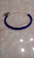Alex & Ani Blue Sea Beads Shimmering Beaded Bangle Bracelet Rare