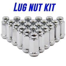 "20 Lug Nut 12x1.5 XL 1.9"" Long Chrome Fit Ford GM Dodge"