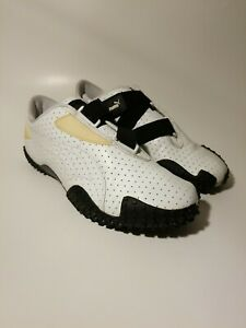 Puma Mostro Perf Shoes Sneakers RARE! White and Black 341953 03 Women's Size 7