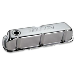 Moroso Engine Valve Cover Set 68201; Chrome Steel for Ford 302/351W SBF