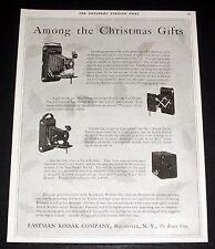 1920 OLD MAGAZINE PRINT AD, EASTMAN KODAK CAMERAS, AMONG THE CHRISTMAS GIFTS!