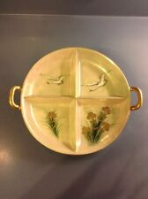 Vintage Chikaramachi handpainted Japanese serving dish 4 sections