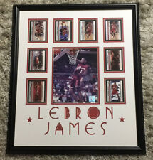 2003 Lebron James Autographed Photo GAI CERTIFIED FRAMED/matted + 8 Rookie Cards