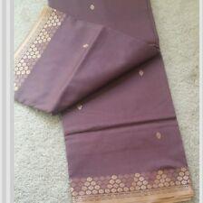 Brand New Beautiful Lavender Color  Silk Sari
