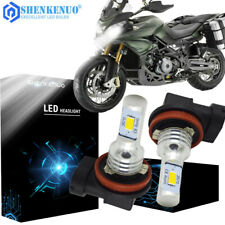 2pcs H11 H8 H9 Motorcycle Led Headlights Bulbs Kit High/Low Beam 6000K White (Fits: Mp3)