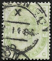 1884 QV SG192 4d Dull Green GG Very Fine Used CV £210