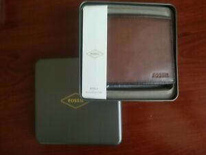 Fossil,Wallet,Bifold,Brown,Genuine Leather,Men's