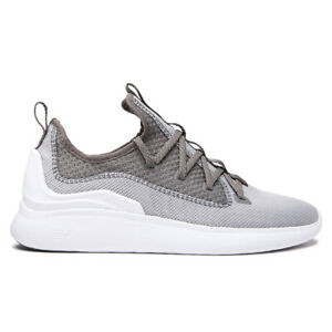 "Supra ""Factor"" Shoes (Light Grey/Grey/White) Men's Skate Shoe Sneakers"