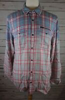 New INC International Concepts Men's Plaid Ombre Shirt Lightning MSRP $65.00