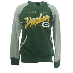 Green Bay Packers NFL Kids Youth Girls Hooded Light Sweatshirt Style Shirt New