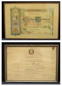 ASTA - COPPIA di ATTESTATI ORIGINALI DEL 1965 E DEL 1972 - TORINO - cod. 19716