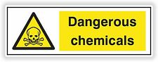 1x Dangerous Chemicals Sticker Warning Workplace Facility Chemical WC Door #01