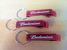 Budweiser Red Aluminum Bottle Opener Key Ring ~ Set of 6 ~ 6 Pack ~ NEW & FShip.