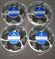 4 X Large 24V DC Round Fan 172 mm x 51 mm - 250 CFM - 3350 RPM - Interfan PM240