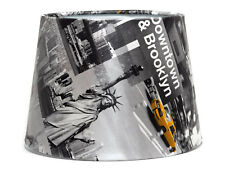 New York Lamp Shade Ceiling Light Shade Yellow Taxi Cab Skyline City NYC Bedroom