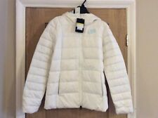 Women's Nike Down Fill Hooded Coat White Pale Blue Size Small 854862-100