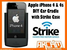 STRIKE ALPHA APPLE IPHONE 4 & 4s CAR CRADLE WITH STRIKE CASE DIY - FAST CHARGER