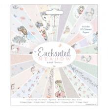Enchanted Meadow - 6x6 Paper Pad - 50 Sheets - Fairies - Unicorns - Glitter