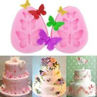 3D Butterfly Silicone Cake Mold Fondant Chocolate Baking Mold Decorating Tool QK
