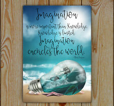 Imagination Quote Sign | Fantasy Art Sign | Almost A3 | Beach Imagination