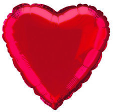 Red Love Heart Foil Helium Balloon 45cm Party Supplies Valentines Day