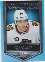 19/20 TIM HORTONS...PATRICK KANE...HIGHLY DECORATED...CARD # HD-2...BLACKHAWKS