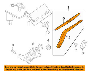 NISSAN OEM Wiper Washer-Liftgate Tailgate Hatch-Wiper Arm Assembly 287803WC0A