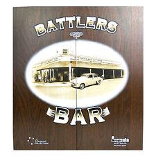 Dart Board Cabinet Battlers Bar 1954 Pub Old Holden Classic Chalk Score Boards