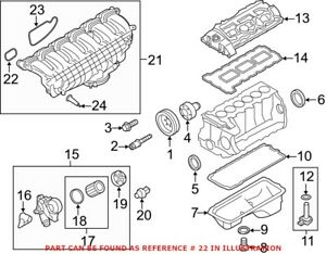 Genuine OEM Engine Intake Manifold Gasket for BMW 11617547242