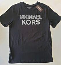 MIchael Kors Men's Graphic Black Tee Shirt Cotton Crew Neck Size M $69.50