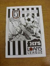 14/11/1992 shepshed Albion V shton United [HFS prêts League division 1 tasse] (Sli