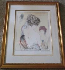 Guilherme de Faria LITHOGRAPH SIGNED LIMITED MODERNISM   2 WOMEN FIGURES RARE