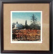 Ernesto Rodriguez St. Clement Napa  Custom Framed Fine Art Print Giclee  Signed