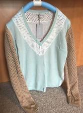 M.Patmos 100% Cashmere Sweater sz S NWT Color Block V Neck
