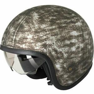 Duchinni D388 Vintage Open Face Motorcycle Helmet Iron Crash Lid Motorbike