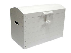 Wooden Chest Trunk Beding Toy Box Bed Furniture Wood Ottoman Basket White XXL