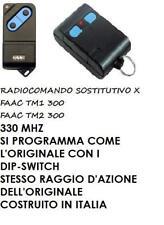 TELECOMANDO RADIOCOMANDO COMPATIBILE FAAC TM2 300 TM2300S TM2 300S  330MHZ