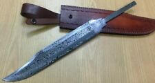Custom Crafted Knife King's Damascus Steel Timber Rattler Bowie Blank Blade