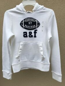 ABERCROMBIE KIDS BOYS HOODIE Size Small white NEW authentic