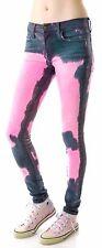 Wildfox Couture Foolish Love Carmen Skinny Jeans Pink Bleach Dolls Kill tie dye