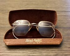 Vintage B&L Eyeglass Frames 1/10 12K GF Gold Rim Metal Spectacles Bausch & Lomb