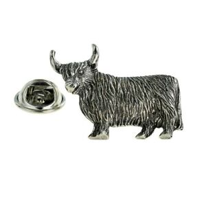 Highland Cow Pewter Lapel Pin Badge XWTP149